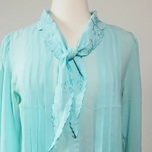 Vintage Light Blue Blouse by Sheridan Square